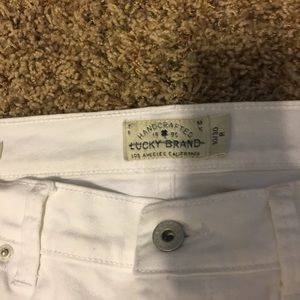 Lucky Brand Sweet Straight white jeans